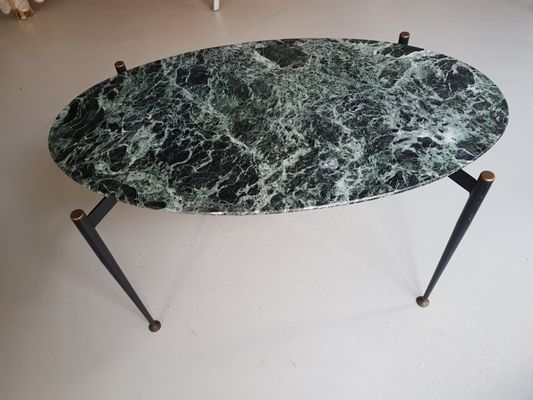 oval geformter italien. Marmor Coffee Table - oval shaped Marble Coffee Table, 60s